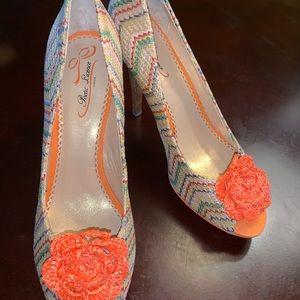 Poetic License Peep Toe Stiletto Heels Size 9.5